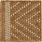 Trellis Natural Indoor-Outdoor Rug Swatch.
