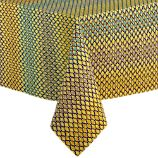 "Trellis Yellow 60""x60"" Tablecloth"