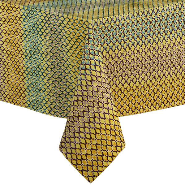 "Trellis Yellow 60""x144"" Tablecloth"