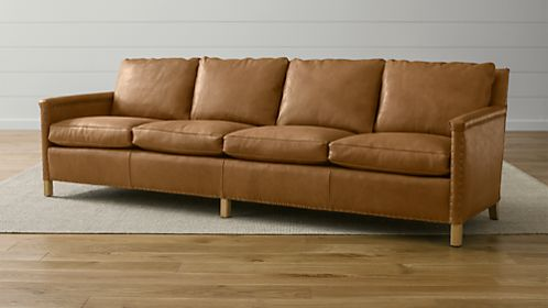 "Trevor Leather 106"" Sofa"