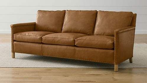 "Trevor Leather 81"" Sofa"