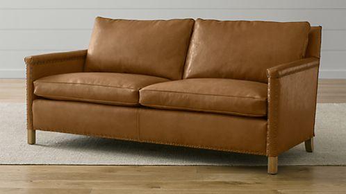 Trevor Leather Apartment Sofa