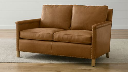 Trevor Leather Loveseat