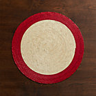 Tropic Palm Red Trim Placemat.