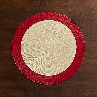 Tropic Palm Red Trim Placemat