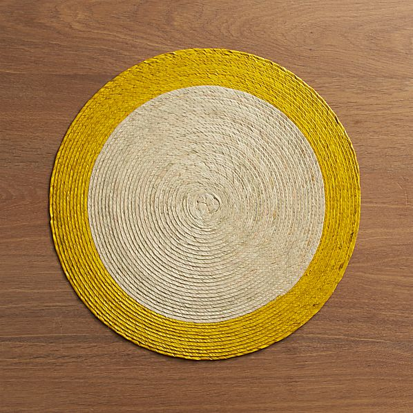 Tropic Palm Yellow Trim Placemat