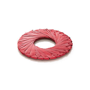 Tropic Palm Red Napkin Ring