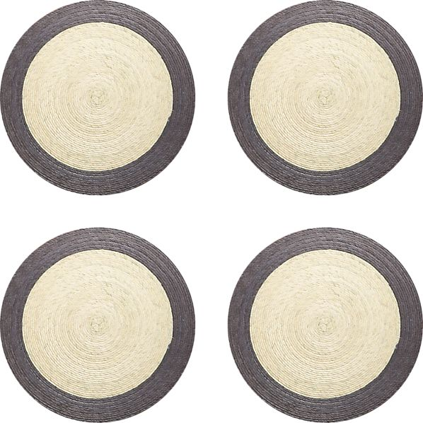 Set of 4 Tropic Palm Dove Trim Placemats