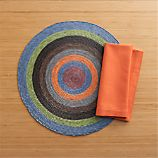 Tropical Palm Spiral Placemat and Cotton Tiger Lily Napkin