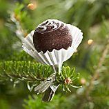 Truffle Clip Chocolate Flower Swirl Ornament