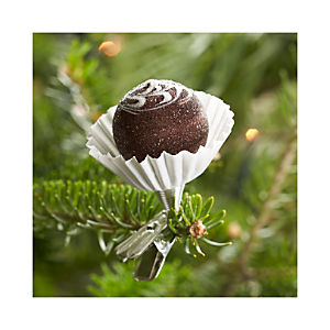 Truffle Clip Chocolate Flower Swirl Ornament