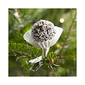 Truffle Clip Chocolate Snowball Ornament