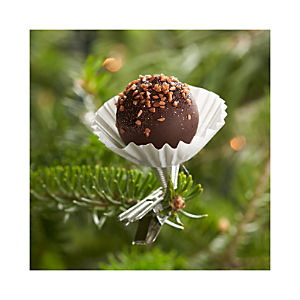 Truffle Clip Chocolate Toasted Coconut Ornament