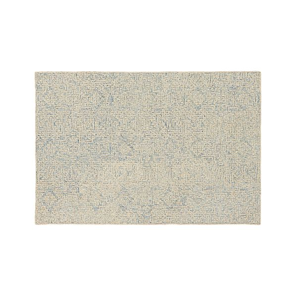 Trystan Blue Wool Blend 6 X9 Rug Crate And Barrel