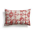 Tuku Red Pillow with Feather-Down Insert.