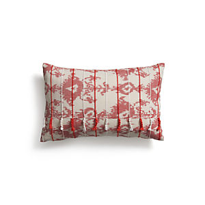 "Tuku Red 20""x13"" Pillow with Down-Alternative Insert"