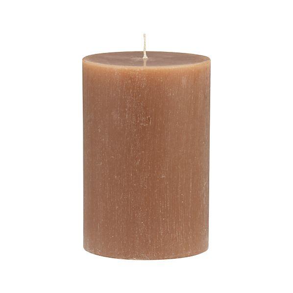 "Tupelo Cassia 4""x6"" Pillar Candle"
