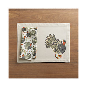 Turkey Placemat and Turkey Napkin