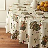 "Turkey 90"" Round Tablecloth"