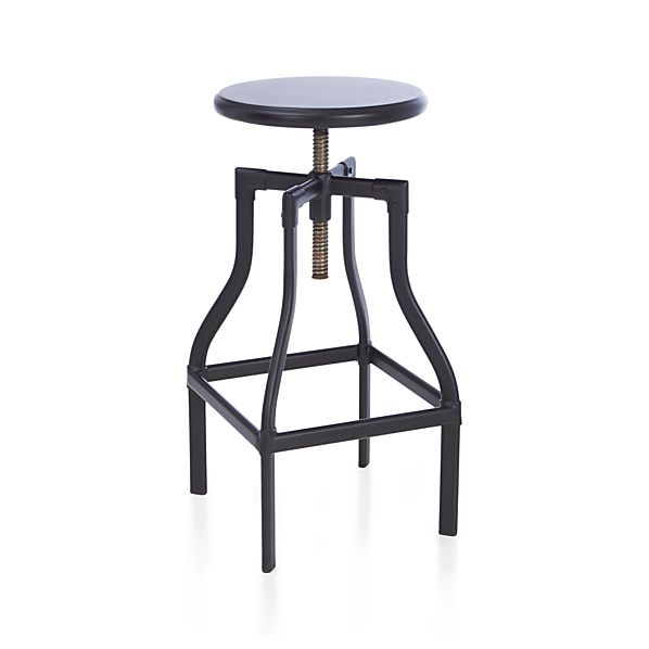 Turner Black Bar Stool In Bar Stools Crate And Barrel