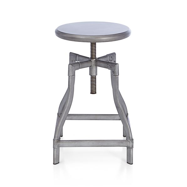 Turner Gunmetal Adjustable Backless Counter Stool In Bar