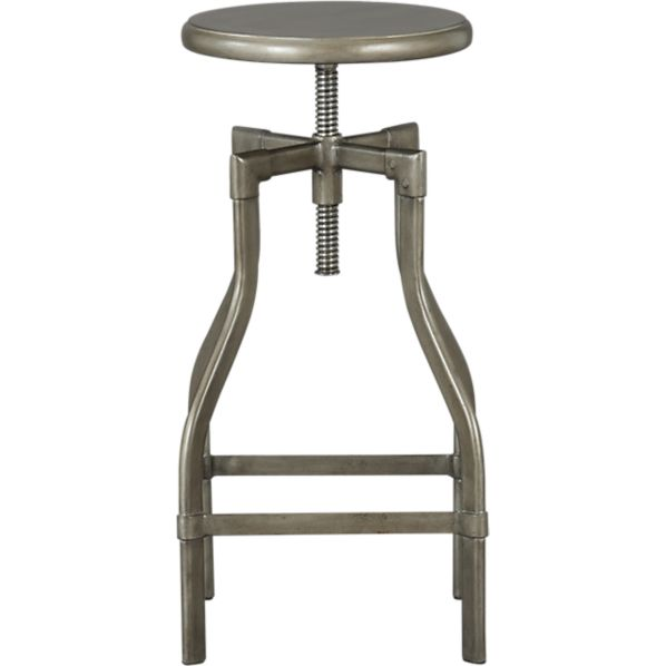 Turner Gunmetal 24 30 Bar Stool Crate And Barrel