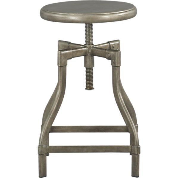 "Turner Gunmetal 18""–24"" Bar Stool"