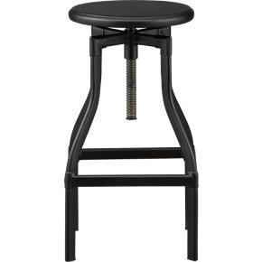 Turner Black 24-30 Barstool