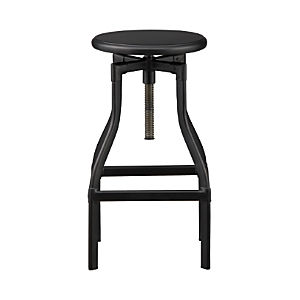 "Turner Black 24""–30""  Bar Stool"