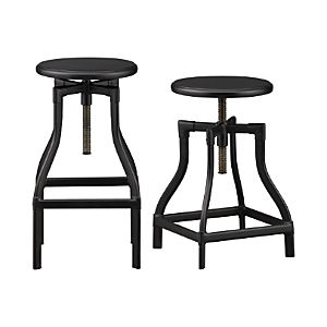 Turner Black Bar Stools