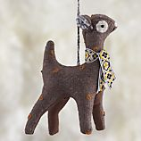 Tweed Deer Ornament
