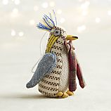 Tweed Penguin with Bow Tie Ornament