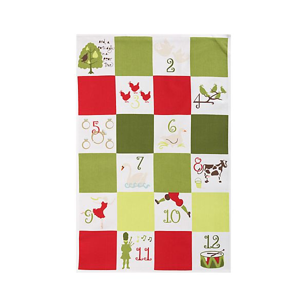 Twelve Days Dishtowel