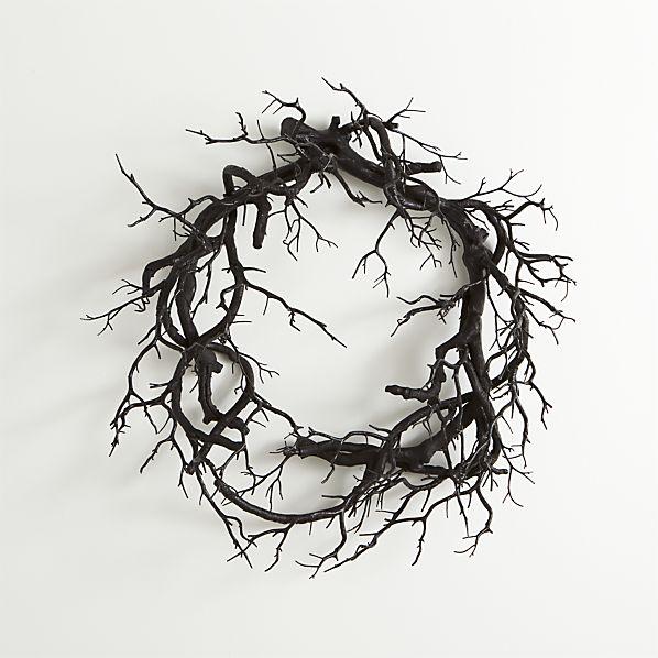 Black Branch Artificial Wreath