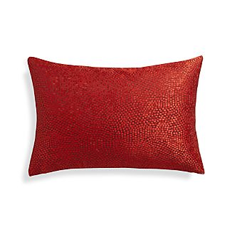 Twinkle Red 18x12 Pillow with Down-Alternative Insert