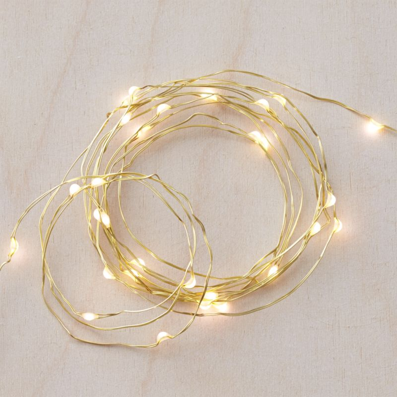 String Lights That Twinkle : Twinkle Gold 10 String Lights Crate and Barrel