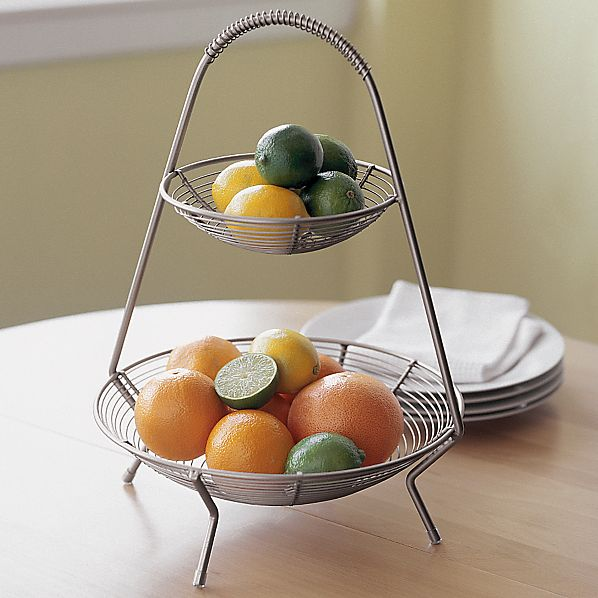 Two-Tier Fruit Basket