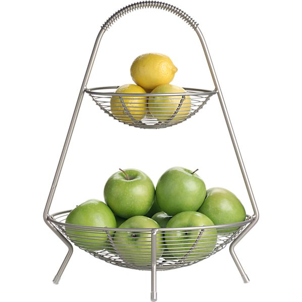 Two Tier Fruit Basket Crate And Barrel