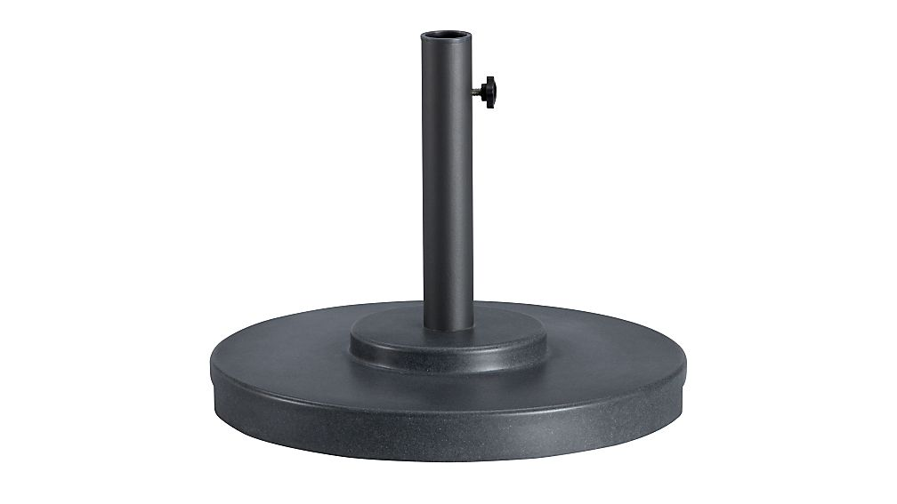 Small Charcoal Outdoor Patio Umbrella Stand In Patio