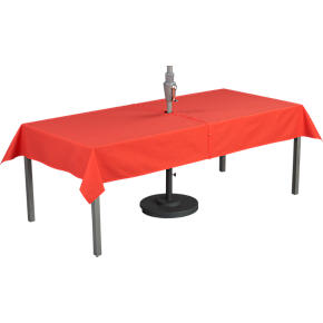 Orange Rectangular Umbrella Tablecloth