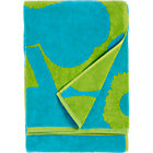 "Turquoise and Lime Bath Towel. 20""Wx59""L"
