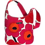 Marimekko Pieni Unikko Clover Red and White Bag