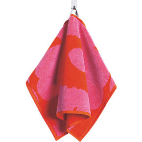 Marimekko Unikko Pink and Red Guest Towel
