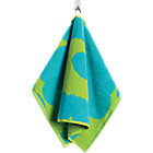 "Turquoise and Lime Guest Towel. 12""Wx20""L"