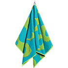 "Turquoise and Lime Hand Towel. 20""Wx39""L"