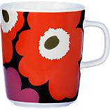 Marimekko Unikko Brown and Orange and Pink Mug