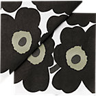"Set of 20 black napkins. 6.5"" sq. (folded)"