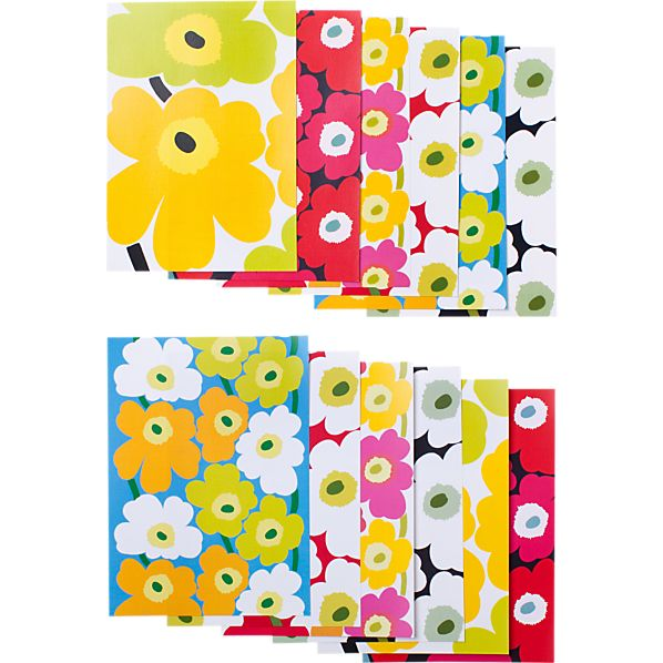 Set of 12 Marimekko Unikko Postcards