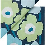Set of 20 Marimekko Unikko Turquoise Paper 4.75&quot; Napkins