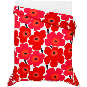 Marimekko Unikko Red Twin Duvet Cover